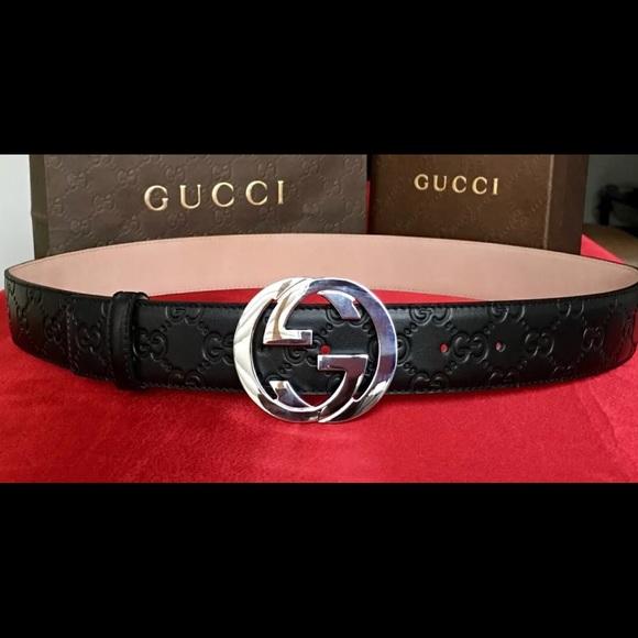 29a177957 Accessories   New W Tags Authentic Black Guccissima Gucci Belt ...